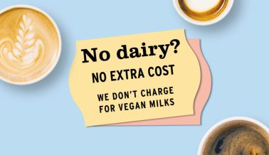 No dairy? We won't charge!