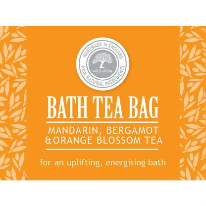 Wild Olive Mandarin Bath Tea Bag