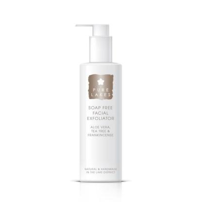 Pure Lakes Aloe Vera, Tea Tree & Frankincense Soap Free Facial Exfoliator