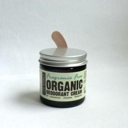 Living Naturally Fragrance Free Organic Deodorant Craem