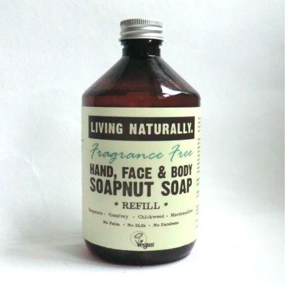 Living Naturally Fragrance Free Soapnut Liquid Soap