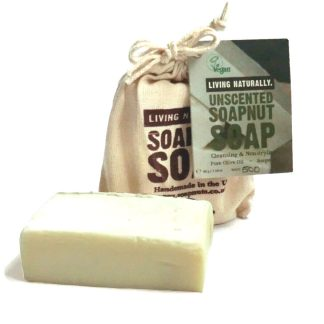 Living Naturally Unscented Soapnut Soap