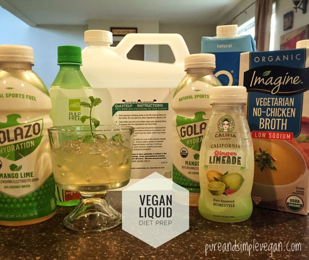 Colonoscopy Vegan Prep – Pure & Simple Vegan