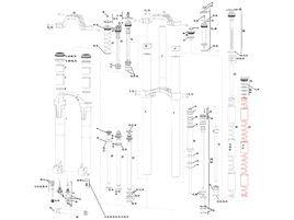 Rock Shox Kit entretien basique pour Boxxer R2C2 2012-2014