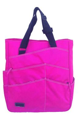Maggie Mather Super Tote: Fucshia