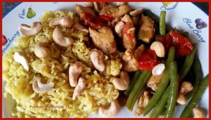 Oosterse-kip-rijst-boontjes-schotel