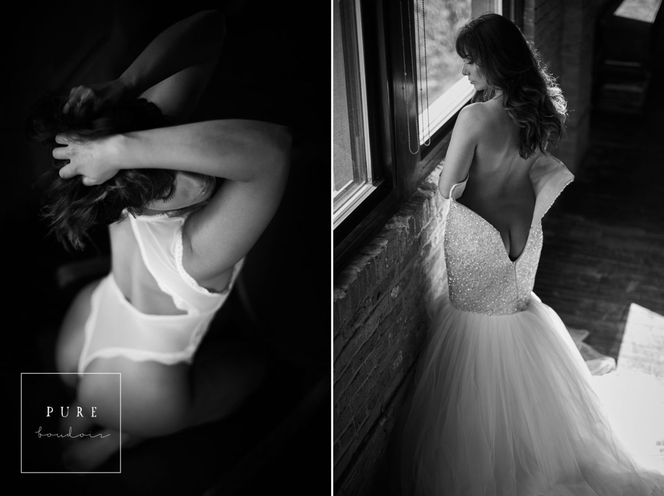 Chicago bridal boudoir with natural light