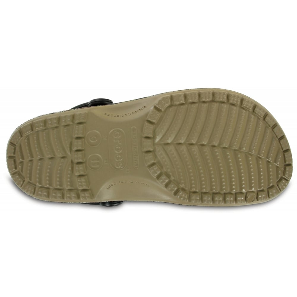 Crocs Crocs Classic Camo Khaki U3 204154260 Mens Clogs