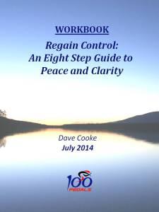 Regain Control Workbook Cover