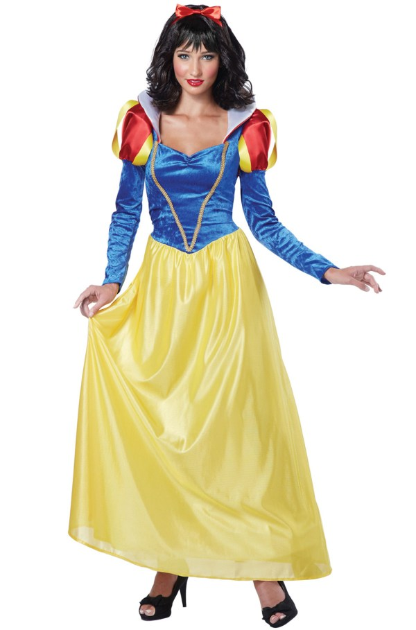 Classic Princess Womens Snow White Dress Adult Halloween Costume
