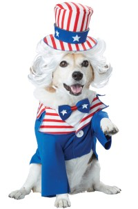 American Patriotic Uncle Sam Pet Dog Costume   eBay