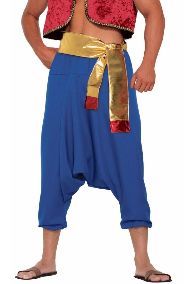 Arabian Desert Prince Pants Adult Costume Blue