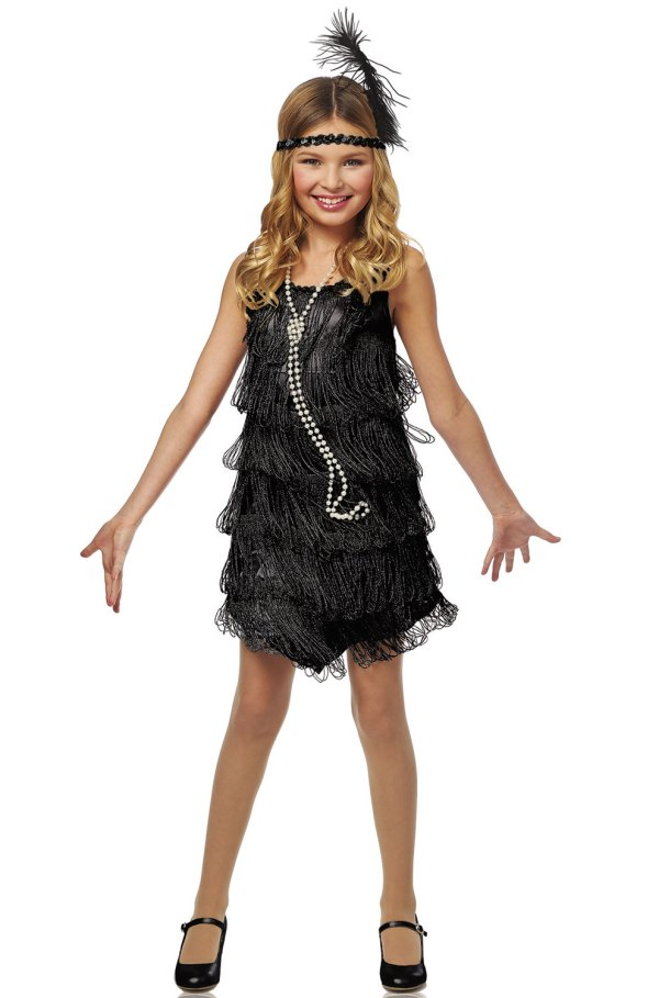 1920' Fashion Black Flapper Child Costume