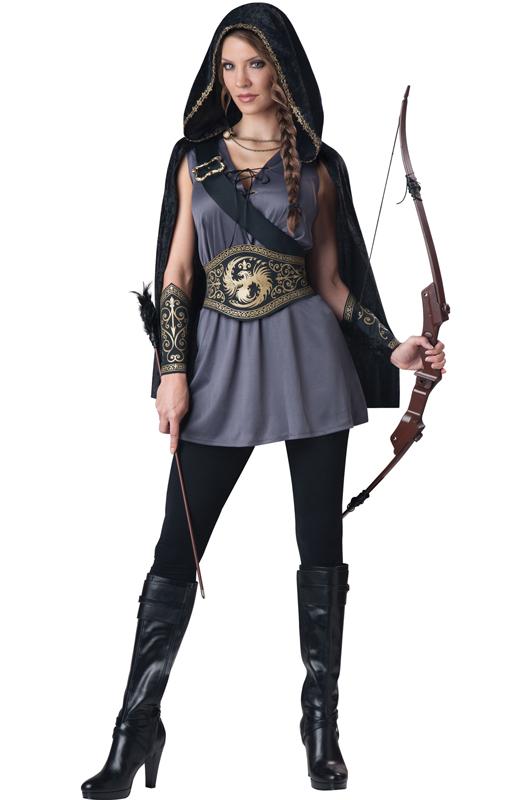 Brand New Hooded Huntress Medieval Warrior Hunger Game Tween Costume