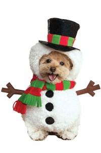 Snowman Pet Costume - PureCostumes.com