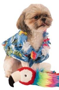 Hawaii Summer Luau Floral Shirt and Lei Pet Dog Costume | eBay