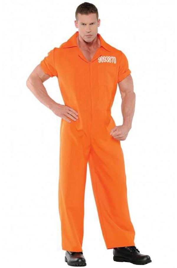 Brand Convicted Prisoner Inmate Orange Jumpsuit Men