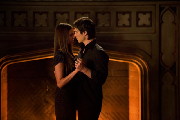 Image result for tvd 4x23 elena damon dance