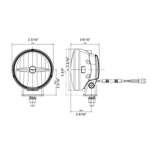 PIAA LP550 5 LED Driving Light Kit, SAE Compliant [05572