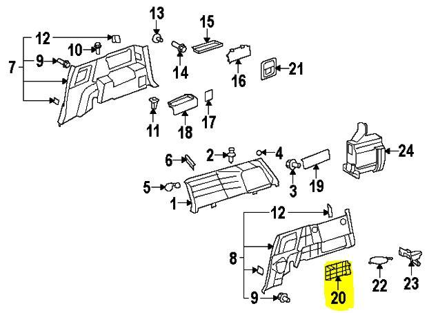 FJ Cruiser Interior Jack Cover Panel [64766-35020-B0