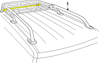 FJ Cruiser Replacement Crossbar for Roof Rack - Adjustable ...