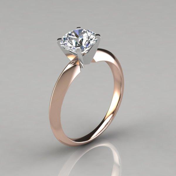 Classic 4 Prong Tiffany Style Engagement Ring - Puregemsjewels