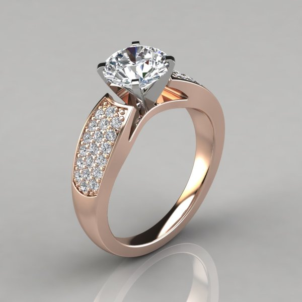 Wide Band Diamond Engagement Rings
