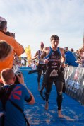 ThomasCook Ironman 70.3 Alcudia Mallorca Spain - Changing zone - Triathlon with Andreas Dreitz, Bart Aernouts, Andreas Raelert and Lisa Huetthaler