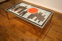 Unusual 70s Belarte tiled coffee table - Pure Imagination