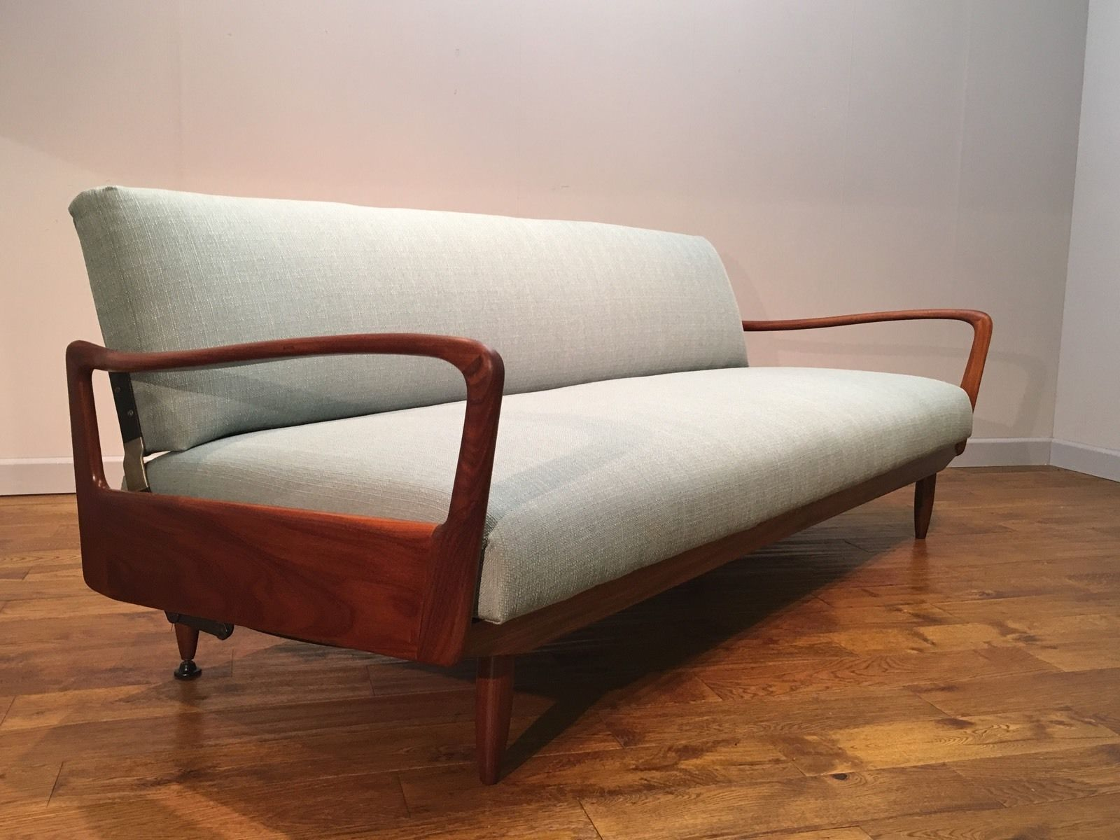 how to clean fabric sofa arms classic microsuede slipcover re upholstered greaves and thomas put u up teak pure