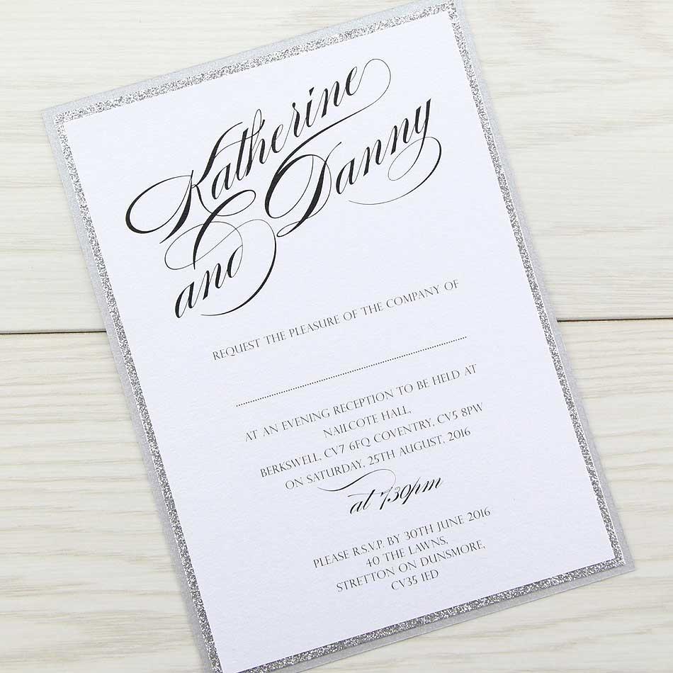 Laser Cut Stationery Invitations