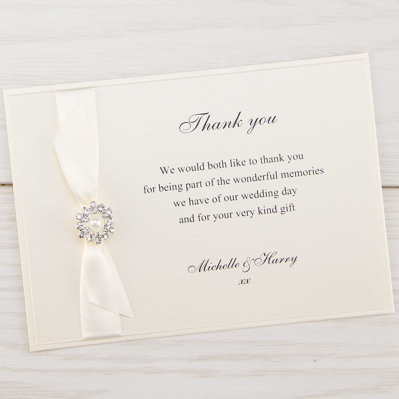 Dior Bow Thank You  Pure Invitation Wedding Invites