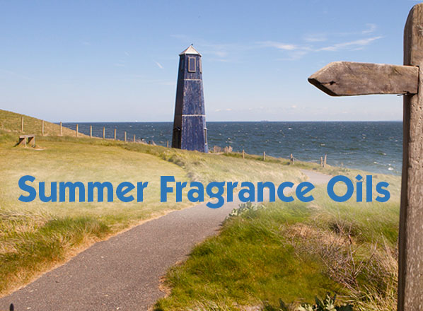 Summer fragrance oils selection