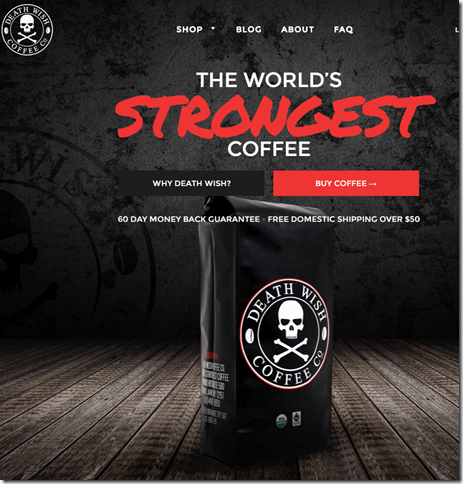 Death Wish Coffee Unusual Coffee Unusual Promise PurelyCoffeeBeans Reviews Tips Amp Recipes