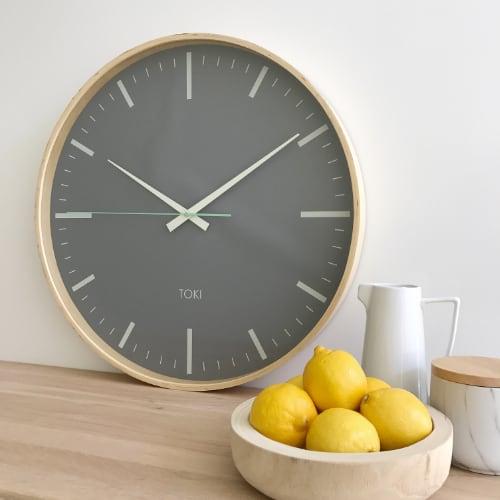wooden kitchen clock hood designs kitchens wall clocks online fast free shipping purely australia silent