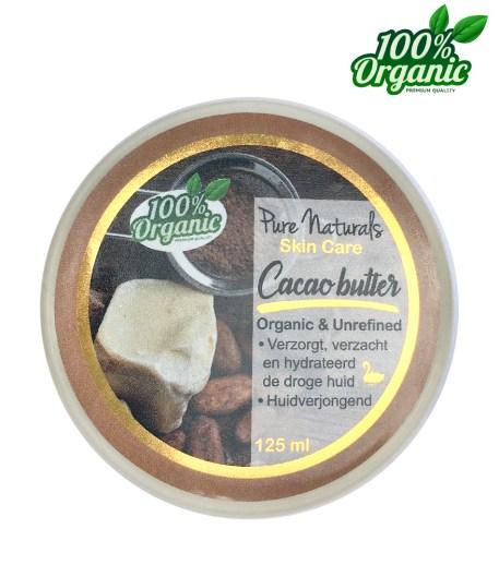 cacaobutterccacao boter biologisch ongerafineerd huidverzorging