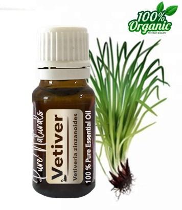 Vetiver essentiële olie - organic - biologisch - pure naturals