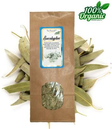 gedroogde eucalyptus kruiden thee