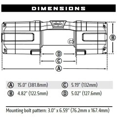 Warn Winch Bolt Pattern Eric Johnson Strat Wiring Diagram Axon 5500 Lb With Synthetic Rope S