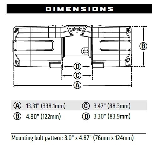 warn winch bolt pattern spal cooling fan wiring diagram axon 3 500 lb with synthetic rope 3500 s