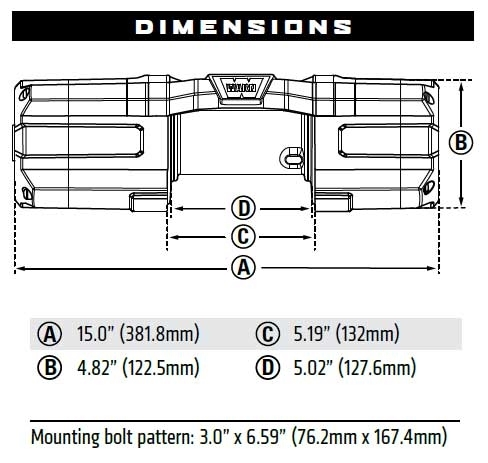 warn winch bolt pattern arm bones diagram labeled axon 4 500 lb with synthetic rope 4500 s