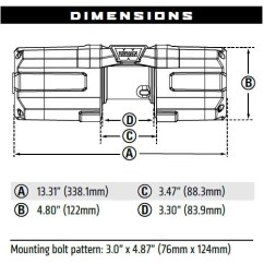 Warn Winch Bolt Pattern 2006 Pontiac G6 Fuse Diagram Axon 4500lb Rc With Synthetic Rope 4500