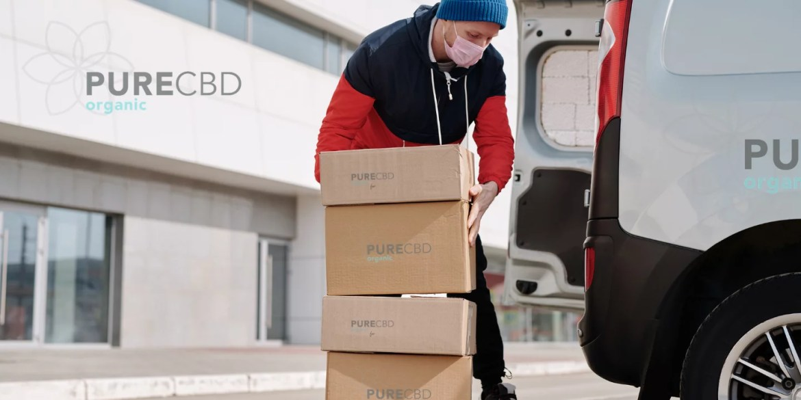 CBD order being shipped for fast deliver