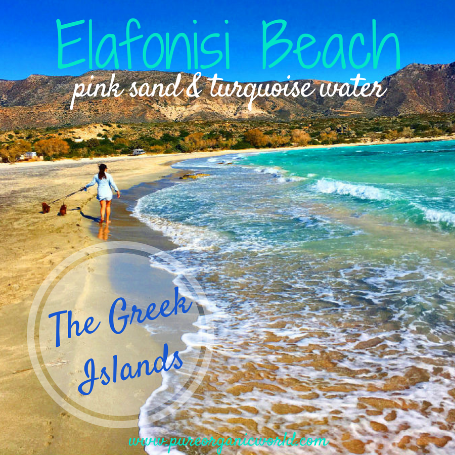 Elafonisi Beach, pink sand and turquoise water