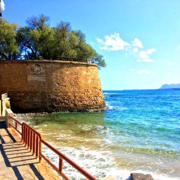 chania harbor venetian wall