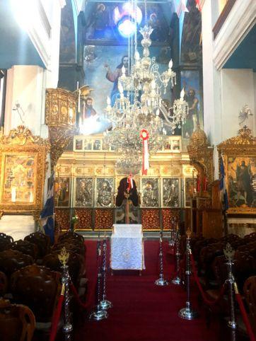 Inside the Greek orthodox church, Chania