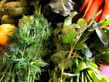 organic veggies close up