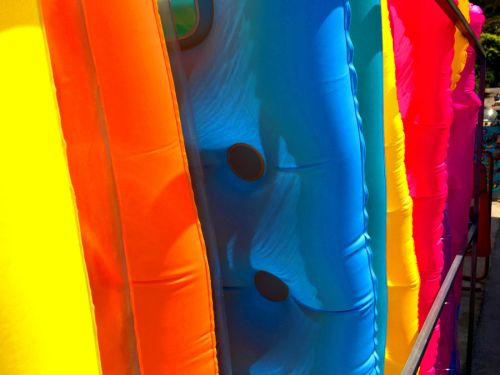 platanias colorful beach floats