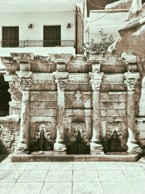 Rimondi Fountain in Rethymno, Crete