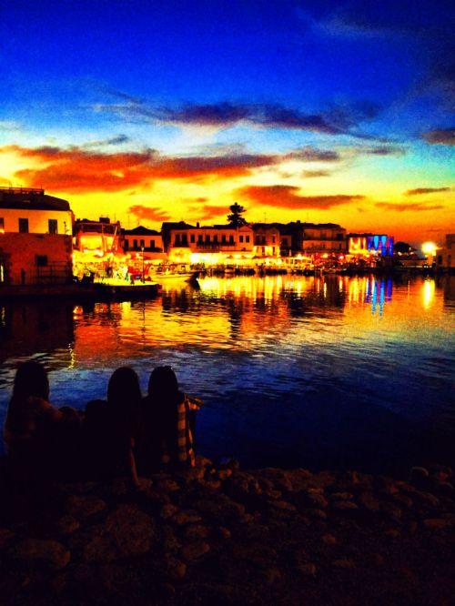 Sunset in Rethymno, Crete